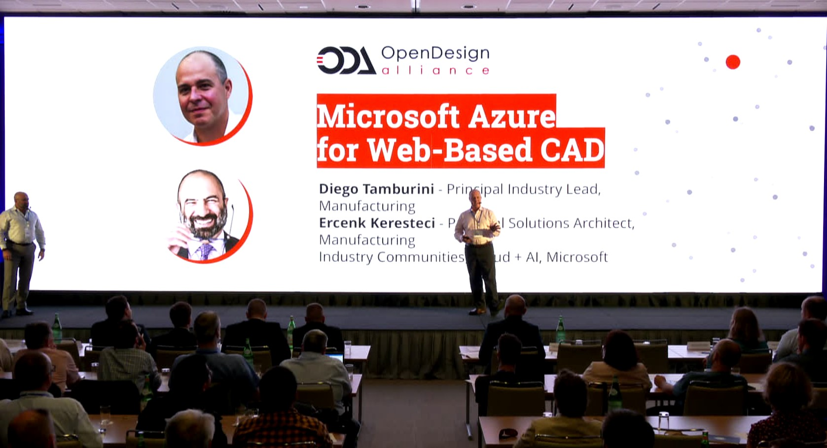 Diego Tamburini and Ercenk Keresteci of Microsoft present  the advantages of Azure for hosting Open Cloud applications