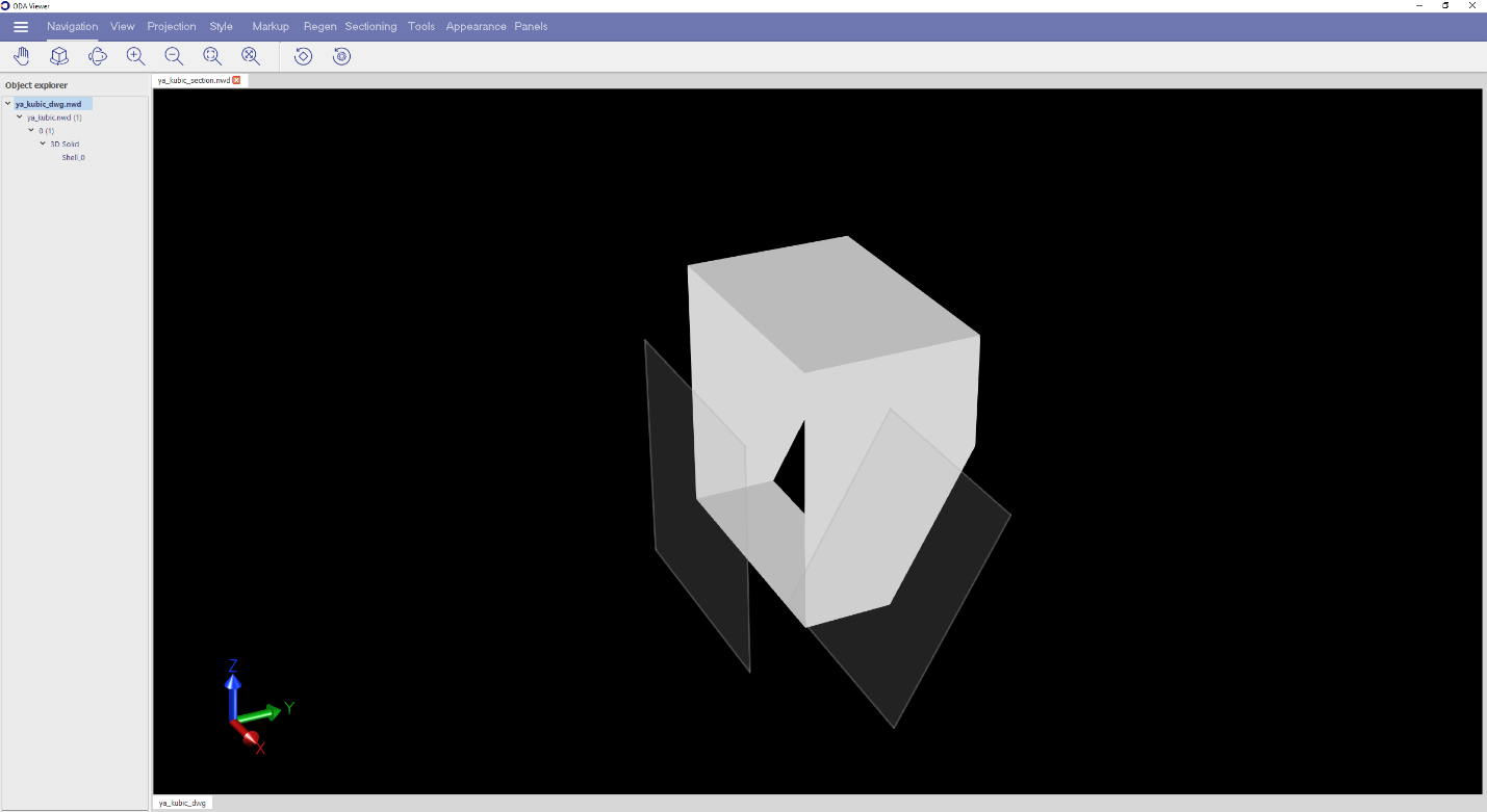 the same model with two clipping planes in plane